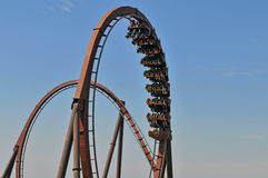 Rollercoaster with loops Royalty Free Stock Photos