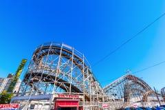Rollercoaster at Luna Park in Coney Island, NYC Stock Photos