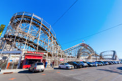 Rollercoaster at Luna Park in Coney Island, NYC Royalty Free Stock Photography