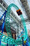Rollercoaster at the Mall of America. Looping Rollercoaster at Mall of America, Minnesota Stock Image