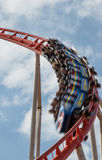 Rollercoaster in motion Stock Photo