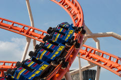 Rollercoaster in motion Royalty Free Stock Image