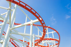 Rollercoaster rail Stock Photography