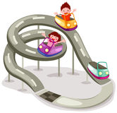 Rollercoaster Ride. Illustration of isolated rollercoaster ride on white background Stock Photos