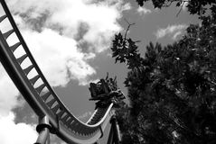 Rollercoaster ride Stock Photo