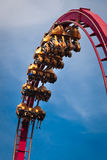 Rollercoaster ride. A rollercoaster ride in the loop royalty free stock photos