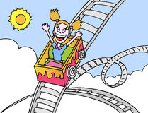 Rollercoaster Ride royalty free illustration