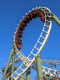 Rollercoaster ride against blue sky Royalty Free Stock Photo