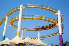 Rollercoaster on Santa Monica Pier Royalty Free Stock Photography