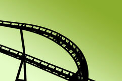 Rollercoaster shape on fun fair Stock Photography