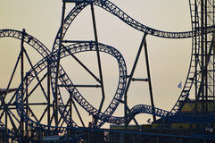 Rollercoaster silhouette Stock Image
