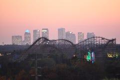 Rollercoaster skyline stock photo