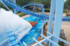 Rollercoaster splash Royalty Free Stock Images