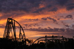 Rollercoaster Sunset Stock Image