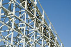 Rollercoaster supports. Old wooden rollercoaster supports Royalty Free Stock Photography