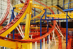 Rollercoaster Tracks In West Edmonton Mall Stock Image