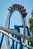 Rollercoasters at amusement park Stock Photography