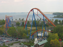 rollercoster езды Стоковое фото RF
