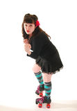 Rollergirl standing Stock Images
