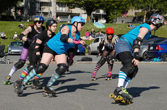 Rollergirls Stock Images