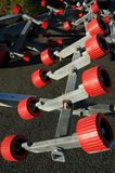 Rollers on Boat Tow royalty free stock photography