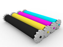 Rollers cmyk Royalty Free Stock Photography