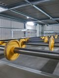 Rollers in a glass factory Royalty Free Stock Image