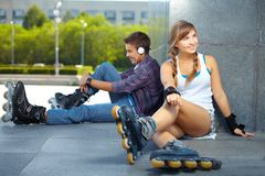 Rollers� meeting spot Stock Photography