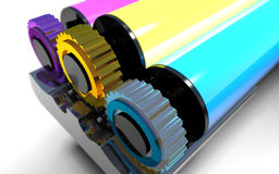 Rollers of printer. Royalty Free Stock Photography