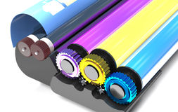 Rollers of printer. Stock Images