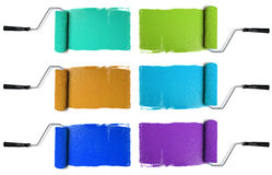 Rollers with Various Colors Royalty Free Stock Photo