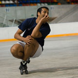Rollerscater vexé Photo stock