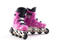 Rollerscates cor-de-rosa Imagens de Stock Royalty Free