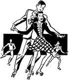 Rollerskaters ilustração do vetor