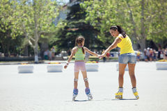 Rollerskaters Stock Images