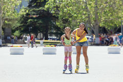 Rollerskaters Royalty Free Stock Photos