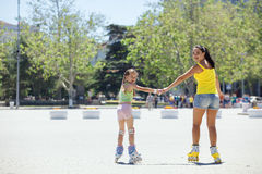 Rollerskaters Royalty Free Stock Images