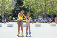 Rollerskaters Stock Photography
