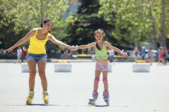 Rollerskaters Royalty Free Stock Image