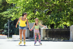 Rollerskaters Stock Photos