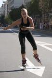 Rollerskates种族20 免版税库存照片