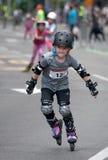 Rollerskates种族36 免版税库存照片