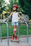 Rollerskates de la niña fotos de archivo libres de regalías