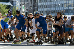 Rollerskates Race-2 Royalty Free Stock Images