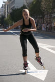 Rollerskates Race-20 Fotografia Stock Libera da Diritti