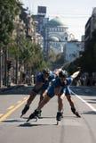 Rollerskates Race-21 Royaltyfri Fotografi