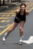 Rollerskates Race-32 Fotos de archivo libres de regalías