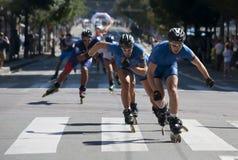 Rollerskates Race-23 Stock Image