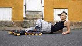 Rollerskating Foto de Stock Royalty Free