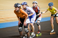 Rollerskating competition Stock Photos